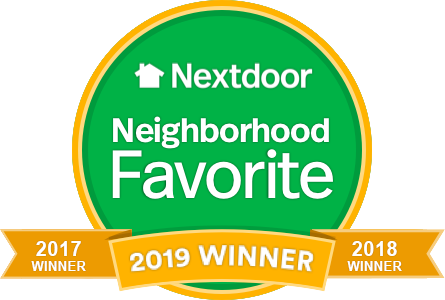 Voted 1017, 2018, and 2019 NextDoor Favorite
